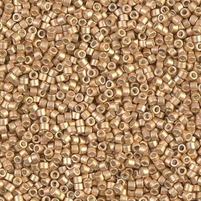 Miyuki Delica Bead 11/0 - DB1153 - Galvanized Semi-Frosted Mead - Barrel of Beads