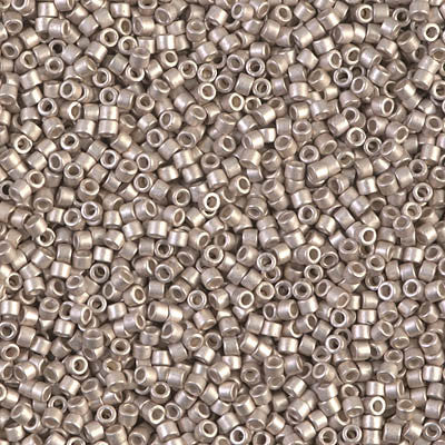 Miyuki Delica Bead 11/0 - DB1158 - Galvanized Semi-Frosted Light Smoky Amethyst - Barrel of Beads