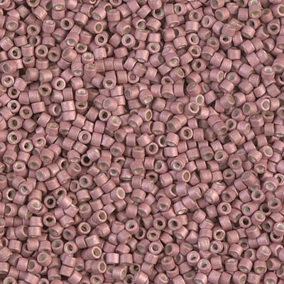 Miyuki Delica Bead 11/0 - DB1166 - Galvanized Matte Pink Blush - Barrel of Beads