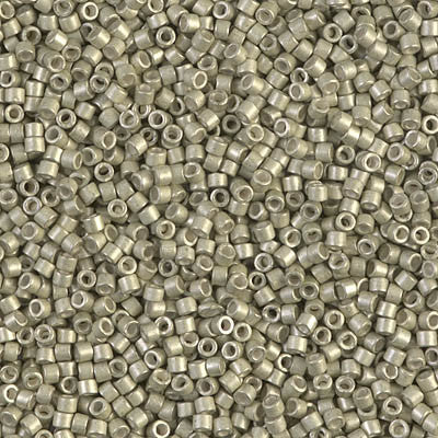 Miyuki Delica Bead 11/0 - DB1181 - Galvanized Semi-Frosted Aloe - Barrel of Beads