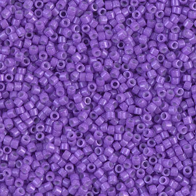 Miyuki Delica Bead 11/0 - DB1379 - Dyed Opaque Red Violet - Barrel of Beads