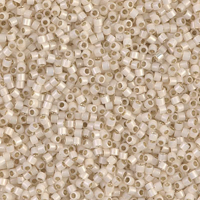 Miyuki Delica Bead 11/0 - DB1451 - Silver Lined Pale Cream Opal - Barrel of Beads
