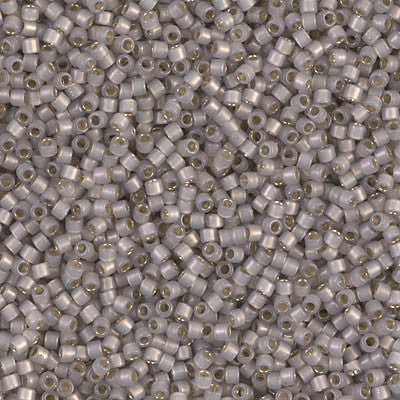 Miyuki Delica Bead 11/0 - DB1456 - Silver Lined Light Taupe Opal - Barrel of Beads
