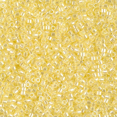 Miyuki Delica Bead 11/0 - DB1471 - Transparent Pale Yellow Luster - Barrel of Beads