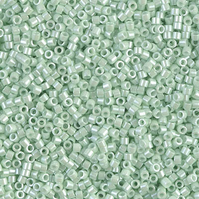 Miyuki Delica Bead 11/0 - DB1536 - Opaque Light Mint Ceylon - Barrel of Beads