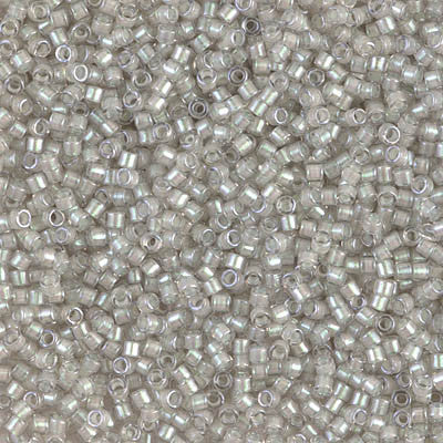 Miyuki Delica Bead 11/0 - DB1711 - Pearl Lined Gray Mist AB - Barrel of Beads