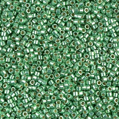 Miyuki Delica Bead 11/0 - DB1844 - Duracoat Galvanized Dark Mint Green - Barrel of Beads