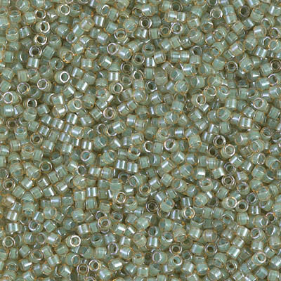 Miyuki Delica Bead 11/0 - DB2052 - Luminous Asparagus Green - Barrel of Beads