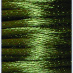 2mm Satin Rayon Rattail Cord, Dark Olive, by the yard - Barrel of Beads