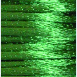 3mm Satin Rayon Rattail Cord, Emerald, by the yard - Barrel of Beads