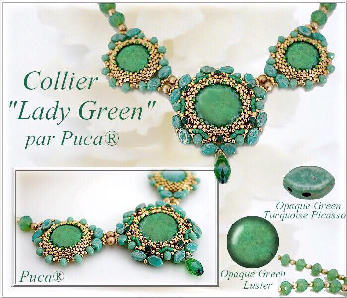 Lady Green Necklace - pattern