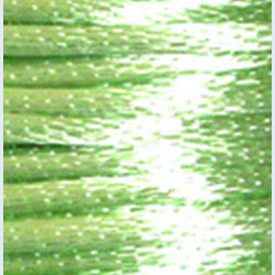 3mm Satin Rayon Rattail Cord, Mint, by the yard - Barrel of Beads