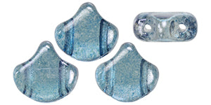 Ginko Beads, Luster Transparent Blue, 8 grams