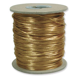3mm Satin Rayon Rattail Cord, Antique Gold, by the yard - Barrel of Beads