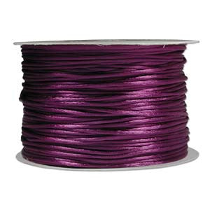1mm Satin Rayon Rattail Cord, Purple, by the yard - Barrel of Beads