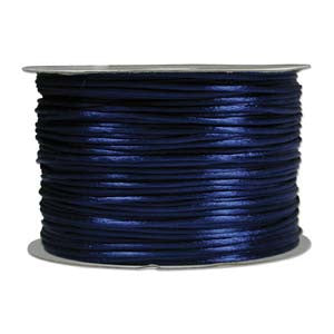 1mm Satin Rayon Rattail Cord, Royal Blue, by the yard - Barrel of Beads