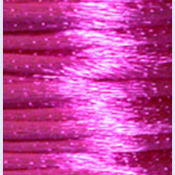 2mm Satin Rayon Rattail Cord, Shocking Pink, by the yard - Barrel of Beads