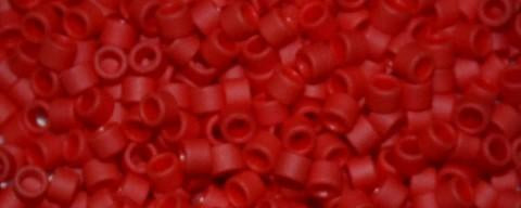 Toho Aiko Bead Opaque Frost Pepper Red