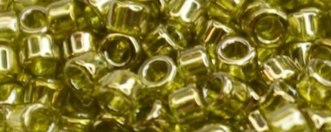 Toho Aiko Bead Gold Luster Light Olive