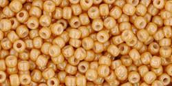 Toho 11/0 Round Japanese Seed Bead, TR11-123D, Opaque Luster Dark Beige - Barrel of Beads