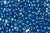 Toho 8/0 Round Japanese Seed Bead, TR8-583PF, Electric Blue Galv PermaFinish