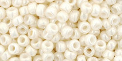 Toho 8/0 Round Japanese Seed Bead, TR8-122, Opaque Luster Navajo White - Barrel of Beads