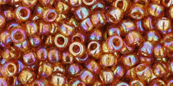 Toho 8/0 Round Japanese Seed Bead, TR8-162C, Transparent AB Topaz - Barrel of Beads