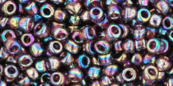 Toho 8/0 Round Japanese Seed Bead, TR8-166C, Transparent AB Amethyst - Barrel of Beads