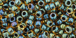 Toho 8/0 Round Japanese Seed Bead, TR8-244, Inside Color Topaz/Midnight Bl - Barrel of Beads