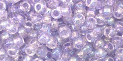 Toho 8/0 Round Japanese Seed Bead, TR8-477, Dyed AB Lavender Mist - Barrel of Beads