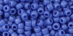 Toho 8/0 Round Japanese Seed Bead, TR8-48L, Opaque Periwinkle - Barrel of Beads