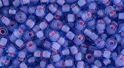 Toho 8/0 Round Japanese Seed Bead, TR8-938, Inside Color Aqua/Pink Lined - Barrel of Beads