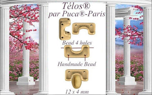 Telos® Par Puca®, TLS-0300-15695, Opaque Mix Rose/Gold Ceramic Look