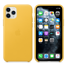 Apple Leather Cover for iPhone 11 Pro - Meyer Lemon