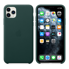 Apple Leather Cover for iPhone 11 Pro Max - Forest Green
