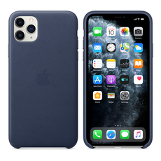 Apple Leather Cover for iPhone 11 Pro Max - Midnight Blue