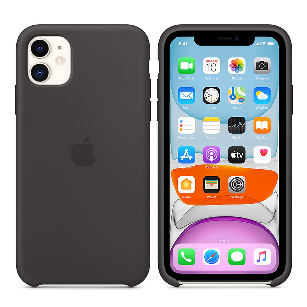 Apple Silicone Cover for iPhone 11 - Black