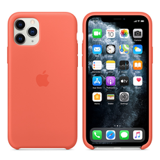 Apple Silicone Cover for iPhone 11 Pro - Clementine