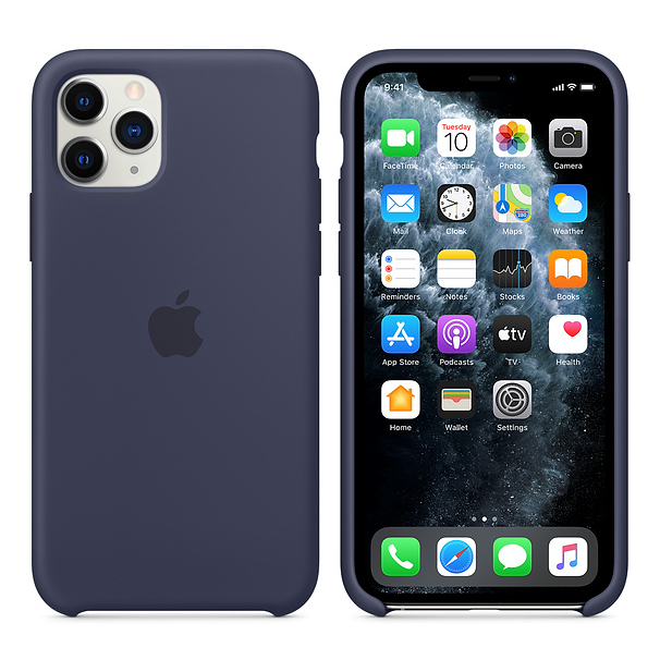 Apple Silicone Cover for iPhone 11 Pro - Midnight Blue