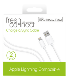 Fresh & Connect Lighting 2m Cable -White