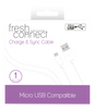 Fresh & Connect Micro USB 1m Cable -White