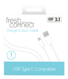 Fresh & Connect Type-C 1m Cable -White