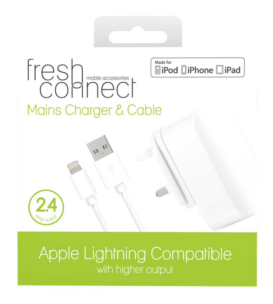 Fresh & Connect Lighting mains 2.4 amp -White
