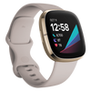 Fitbit Sense Advanced Health & Fitness Smartwatch - Lunar White/Soft Gold Stainless Steel