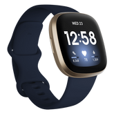 Fitbit Versa 3 Health & Fitness Smartwatch - Midnight/Soft Gold Aluminum