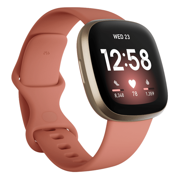 Fitbit Versa 3 Health & Fitness Smartwatch - Pink Clay/Soft Gold Aluminum