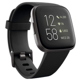 Fitbit Versa 2 Smartwatch - Black-Carbon