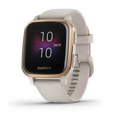 Garmin Venu Sq Music Edition Activity Tracker - Rose Gold Aluminium - White