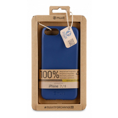 Muvit RecycleTek Cover for iPhone 8 - Blue