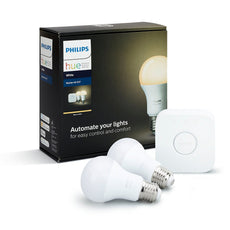 Philips Hue E27 (A19) White Bridge Starter Kit - White